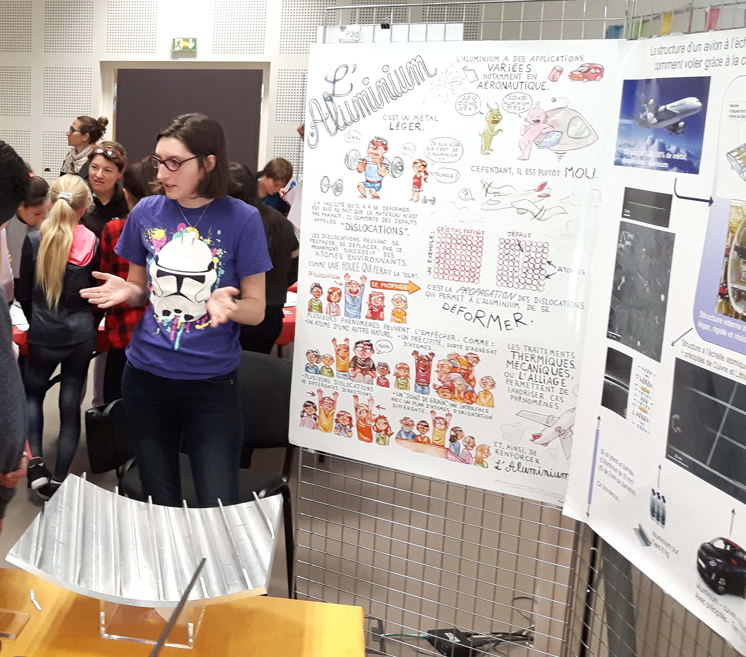 Stand Aile d'avion, fête de la science 2017